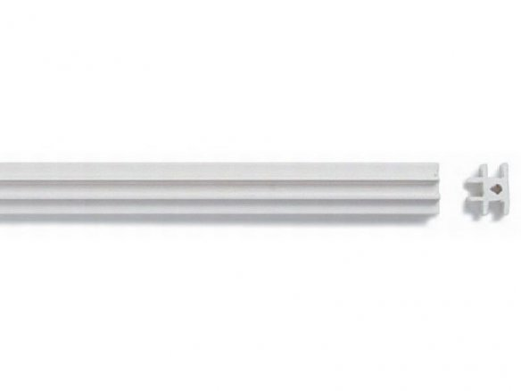 ASA T-profile strips, white