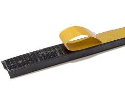 Foam rubber sealing strip, self-adhesive