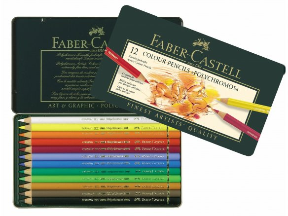 Faber Castell Polychromos coloured pencil, set of 12