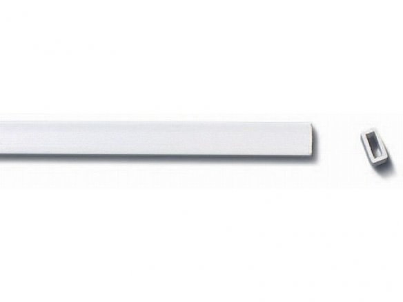 ASA rectangular tube, white