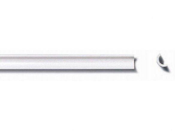 ASA half round tube, white