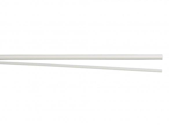 Bacchette semicircolari in polistirene, bianche