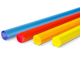 Acrylic glass XT ound rod, fluorescent