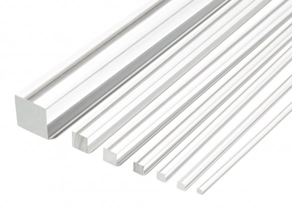 Acrylic glass XT square rod, colourless