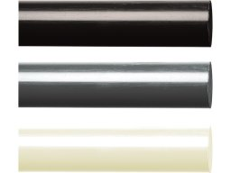 Rigid-PVC round rod, opaque, coloured