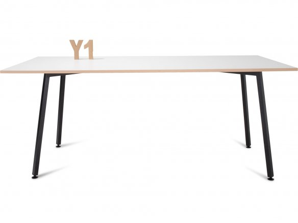 Modulor Y1 table frame, steel, black, 10°