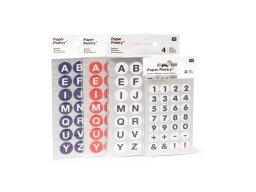 Klebe-Buchst./Zahlen Paper Poetry Office Sticker