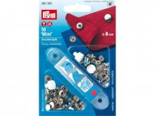 Prym Mini press fasteners, silver glossy