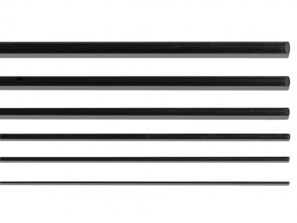 Pultruded carbon fibre (CRP) rod, round
