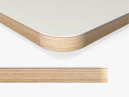 Linoleum tabletop, 50mm radius custom cutting