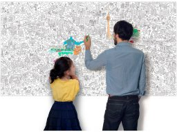 OMY Giant Coloring Roll XXL poster for painting