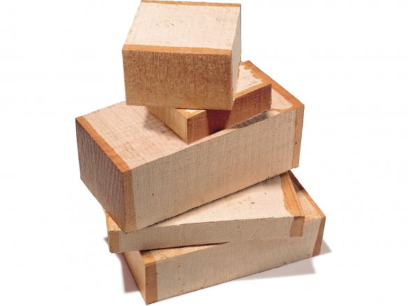 Solid beech wood pieces, rough-cut
