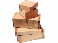 Solid cherry wood pieces, rough-cut