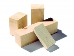 Solid lime wood pieces, rough-cut