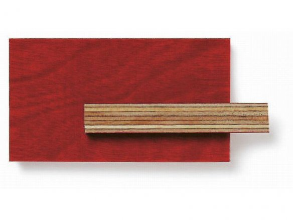Film-faced birch plywood, red (custom cutting available)