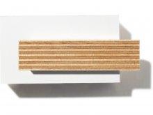 Birch plywood, melamine resin coated, white