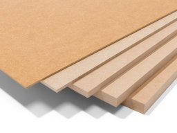 MDF, brown, uncoated (custom cutting available)