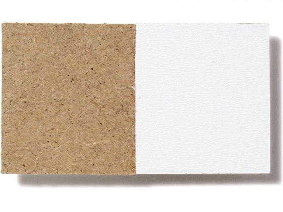 Panel de fibra HDF, una cara blanca