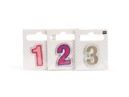 Fabric appliqué, iron-on numerals
