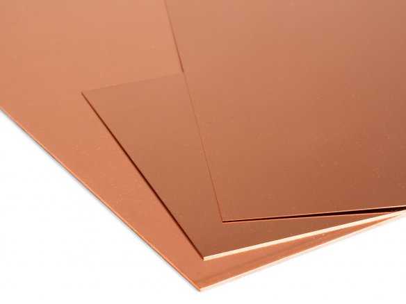 Copper sheets custom cutting
