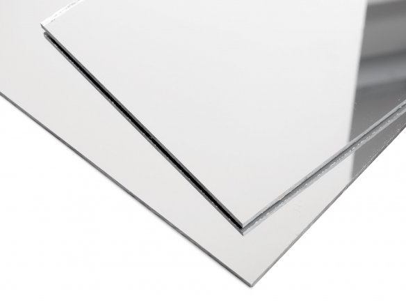Acrylic glass XT mirror, silver, smooth custom cutting