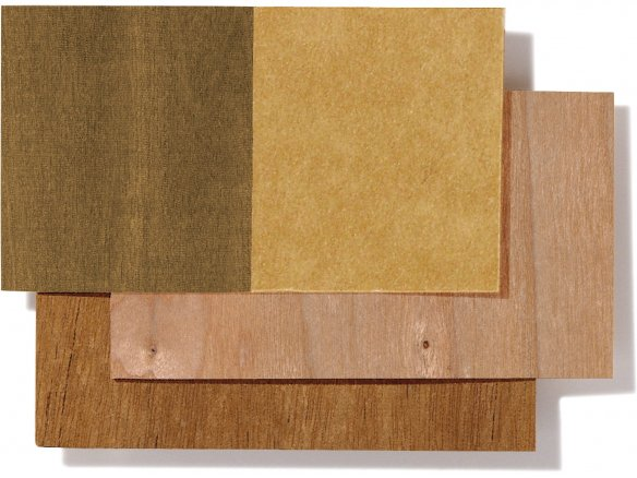 Microwood paper--backed veneer, single-sided