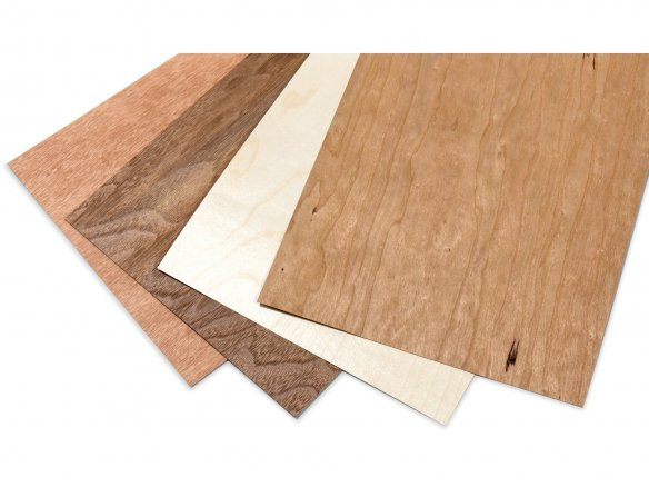 Microwood paper--backed veneer, double-sided
