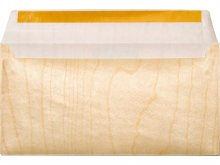 Microwood paper--backed veneer envelope