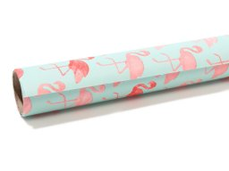 Flamingo gift wrap paper roll