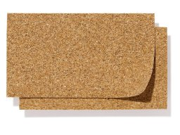 Natural cork sheets, unbuffed