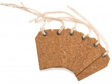 Cork tags, with eyelet