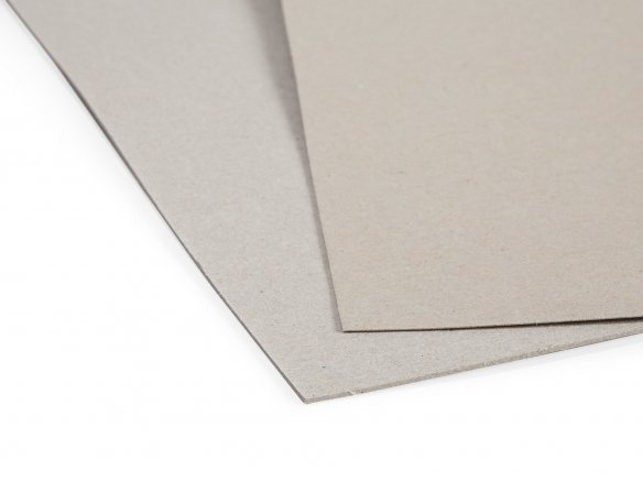 Grey paperboard, smooth/rough