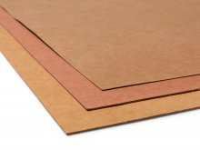 Particle board, orange-brown