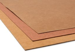 Particle board sheets, orange-brown