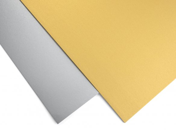 Poster board, metallic