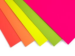 Poster board, coloured, fluorescent