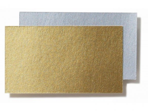 Photo mounting board, metallic
