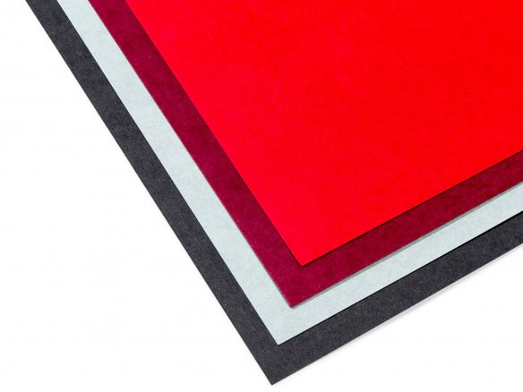 Imitation particle board, coloured