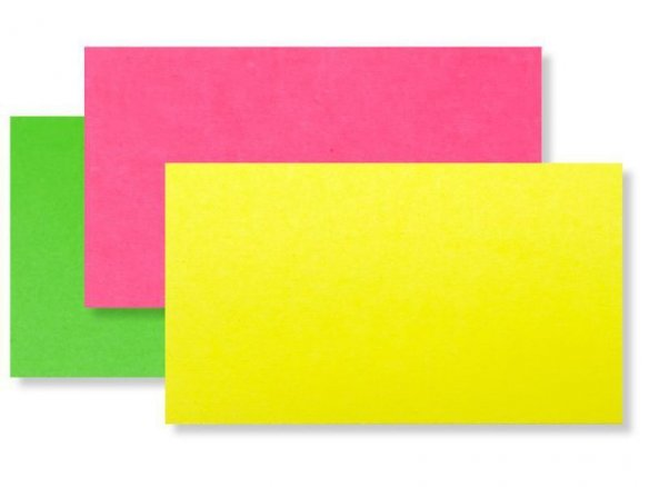 Coloured drawing paper, fluorescent