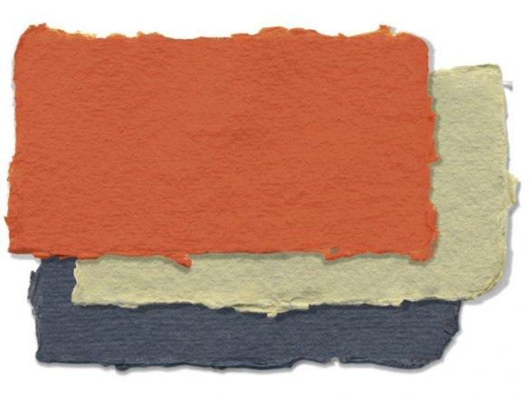 Carta di stracci Khadi, colorata