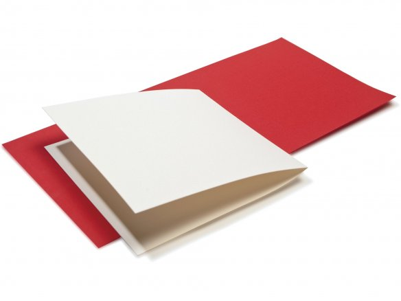 Artoz 1001 square folding card, coloured
