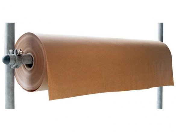 Packing paper, large rolls, brown