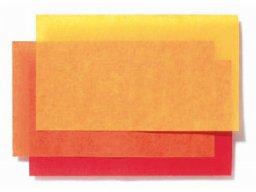 Flower tissue paper, sheet, coloured