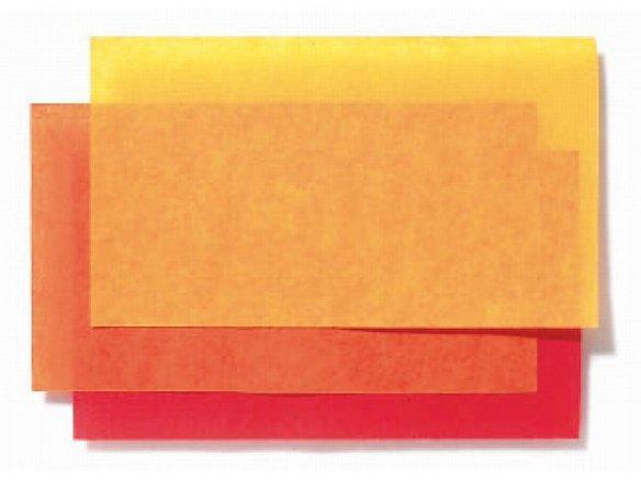 Foglio di carta velina, colorato