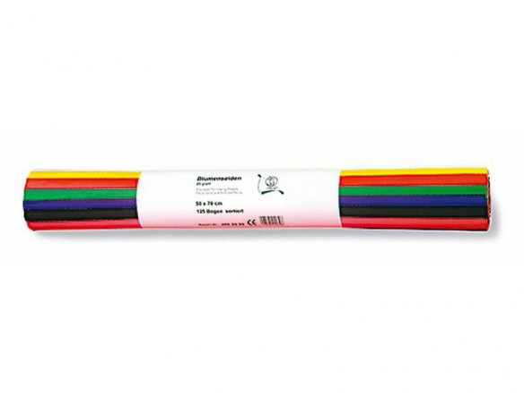 Buy Flower tissue paper, sheet, coloured, 20 g/m², 500 x 700, 125 ...