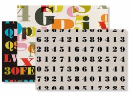 Alphabet gift wrap paper