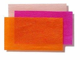 Rollos de papel crespón p. manualidades, de color