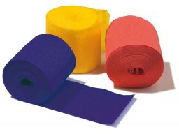 Niflamo crepe paper rolls, coloured