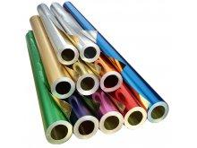 Rollos de papel aluminio p. manualidades, de color