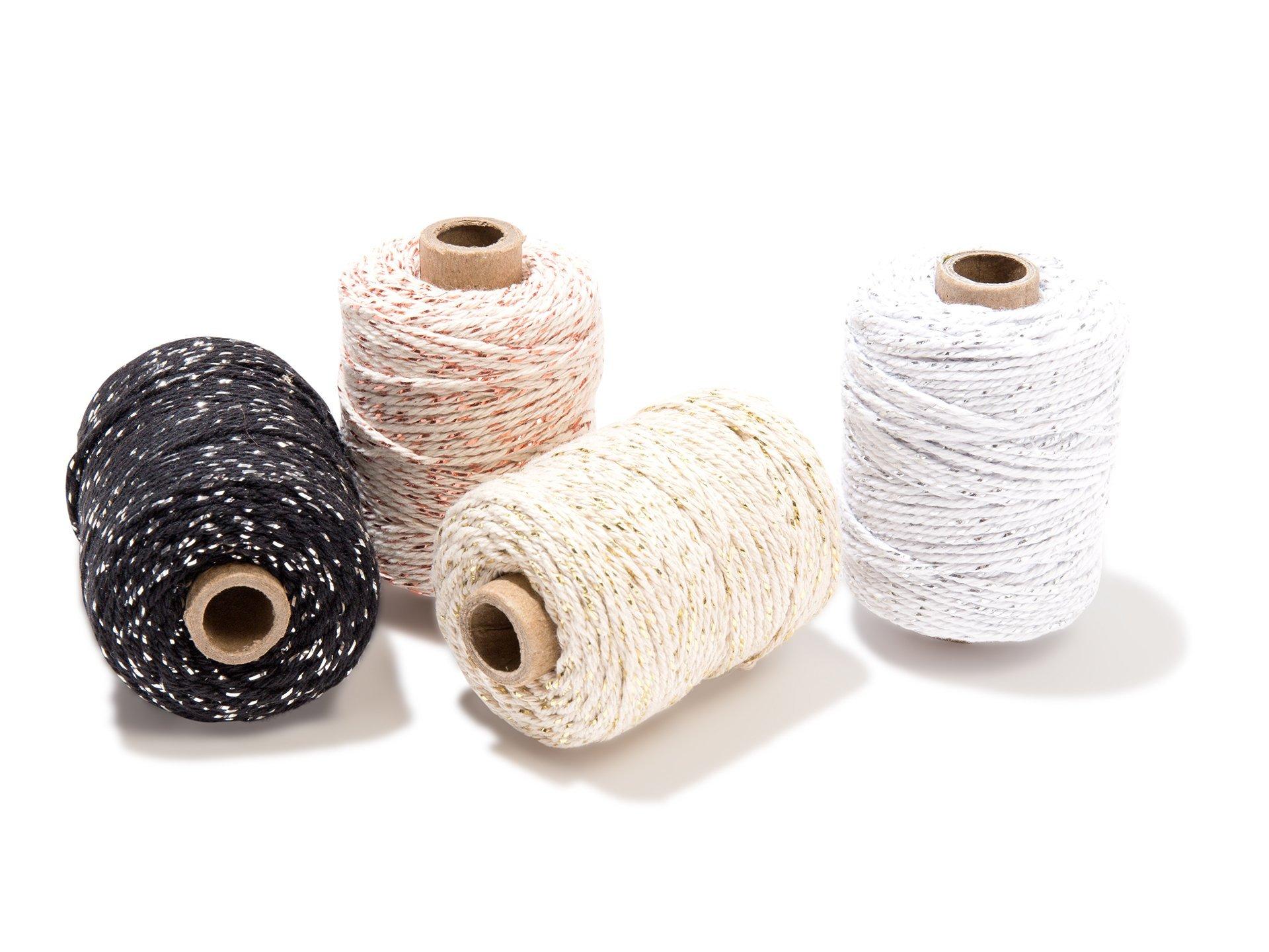 Cotton lurex twist metallic yarn